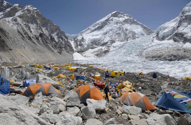 Everest Base Camp in 2018.